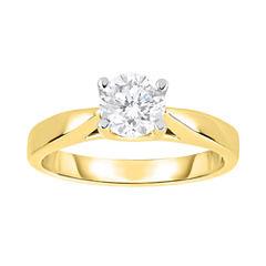 True Love, Celebrate Romance® 1 CT Diamond Solitaire 14K Yellow Gold Bridal Ring