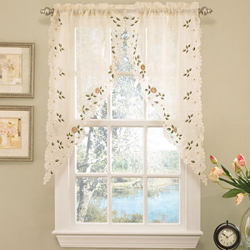 Swag Kitchen Curtains For Window