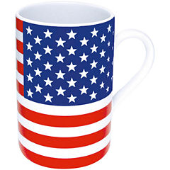 Konitz Stars and Stripes Set of 4 Mugs