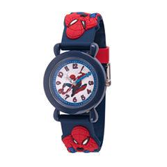 Spiderman Boys Blue Strap Watch-Wma000160