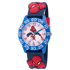 Spiderman Boys Blue Strap Watch-Wma000168