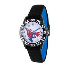 Spiderman Boys Black Strap Watch-Wma000176