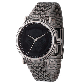 Marvel Mens Silver Tone Stainless Steel Strap Watch-Wma000204