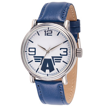 Marvel Mens Blue Leather Strap Watch-Wma000205