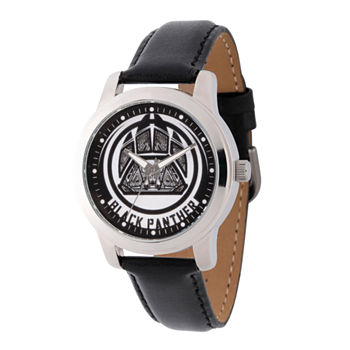 Marvel Avengers Mens Black Leather Strap Watch-Wma000213
