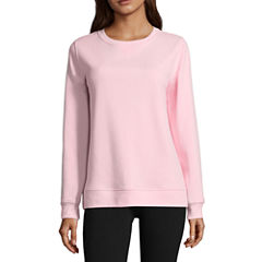 St. John's Bay Active Long Sleeve Sweatshirt-Petites