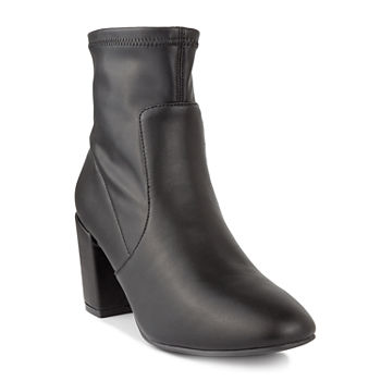 Sugar Womens Itsie Stacked Heel Booties