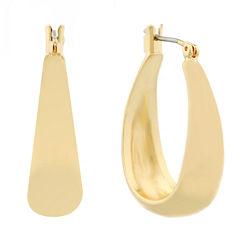 Liz Claiborne Hoop Earrings Goldtone