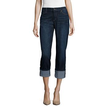 e74e6da6117 Liz Claiborne Womens Mid Rise Straight Leg Jean