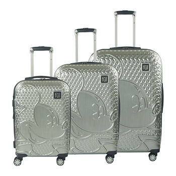 Ful Disney Mickey Mouse Textured Hardside Lightweight Luggage Set