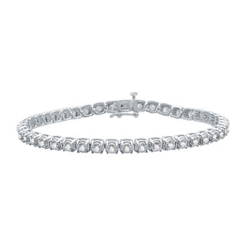 2 CT. T.W. Genuine Diamond 10K White Gold 7.5 Inch Tennis Bracelet
