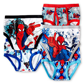 Little Boys 5 Pack Spiderman Briefs