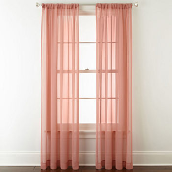 Pink Sheer Curtains For Window