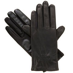 Isotoner Stretch Leather Glove W/ Smartouch Technology