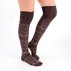 Muk Luks 3 Pair Over the Knee Socks - Womens