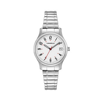 Caravelle Designed By Bulova Womens Silver Tone Stainless Steel Bracelet Watch - 43m119