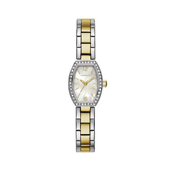 Caravelle Designed By Bulova Womens Crystal Accent Two Tone Stainless Steel Bracelet Watch - 45l168