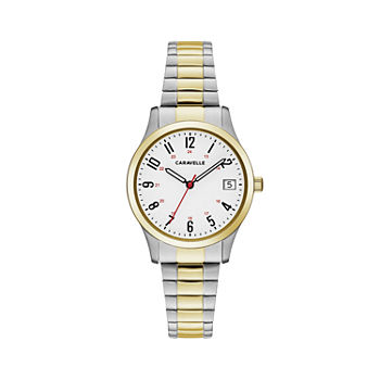 Caravelle Designed By Bulova Womens Two Tone Stainless Steel Bracelet Watch - 45m111