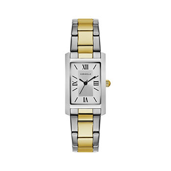 Caravelle Designed By Bulova Womens Two Tone Stainless Steel Bracelet Watch - 45l167