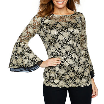 08a41f9365 Long Sleeve Blouses Evening & Formal Separates for Women - JCPenney