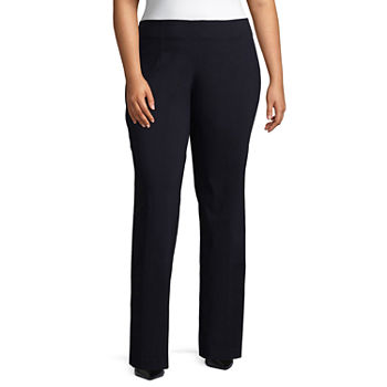 Worthington Womens Pull-On Bootcut Trousers - Plus