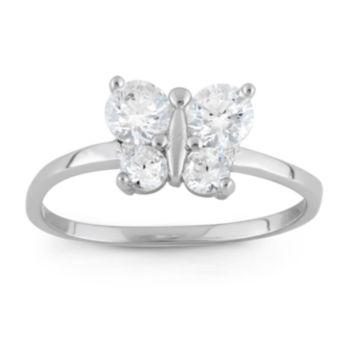 Fine Jewelry Girls White Cubic Zirconia Delicate Ring htgVoG