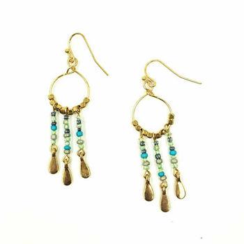 A N Drop Earrings