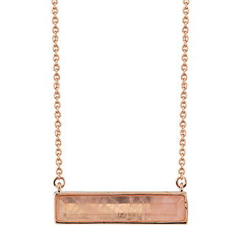 Footnotes Quartz 18 Inch Cable Rectangular Pendant Necklace