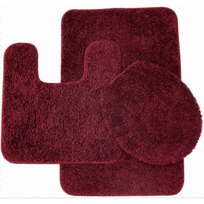 Captivating Florence 3 Piece Bathroom Rug And Toilet Seat Cover Set