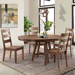 Dining Possibilities 5-Piece Round Table with Ladder Back Chairs