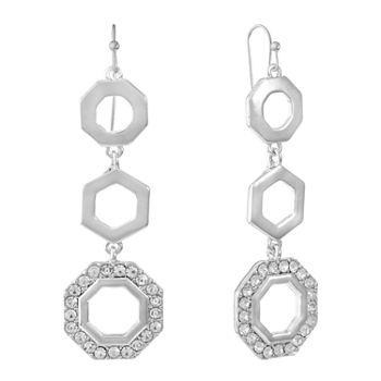 Liz Claiborne White Drop Earrings