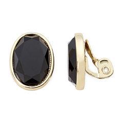 Monet® Black Stone Clip-On Earrings
