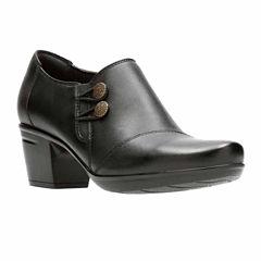 Clarks Emslie Warren Leather Womens Slip-On Shoes