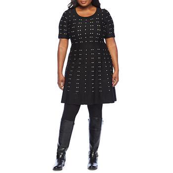 Plus Size Sweater Dresses Black Dresses for Women - JCPenney