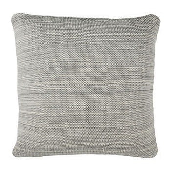Safavieh Love Light Grey Natural Square Throw Pillow
