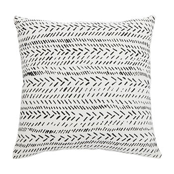 Safavieh Sarden Black White Square Throw Pillow