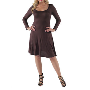 24/7 Comfort Apparel-Plus Casual Fit & Flare Dress