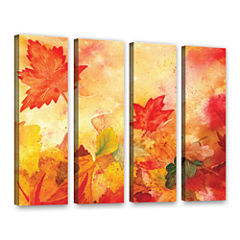Brushstone Autumn Dance 4-pc. Gallery Wrapped Canvas Wall Art
