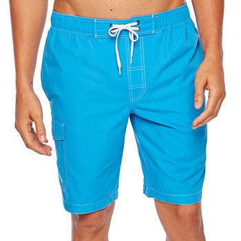 585b3a7203 St. John's Bay Solid Cargo Swim Trunks