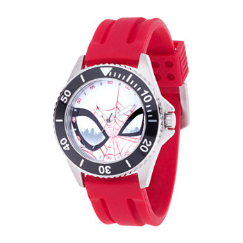 Marvel Marvel Mens Red Strap Watch-Wma000352