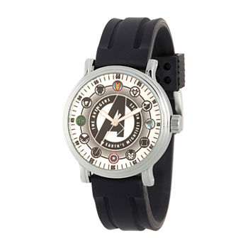 Marvel Avengers Mens Black Strap Watch-Wma000354