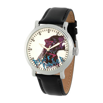Marvel Marvel Mens Black Leather Strap Watch-Wma000357