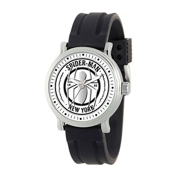 Marvel Marvel Mens Black Strap Watch-Wma000368
