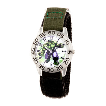 Marvel Hulk Boys Black Strap Watch-Wma000375