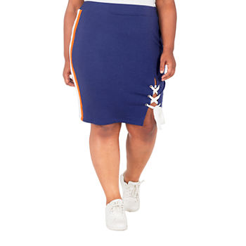 Poetic Justice Womens High Rise Stretch Pencil Skirt-Plus