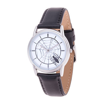 Marvel Marvel Mens Black Leather Strap Watch-Wma000400