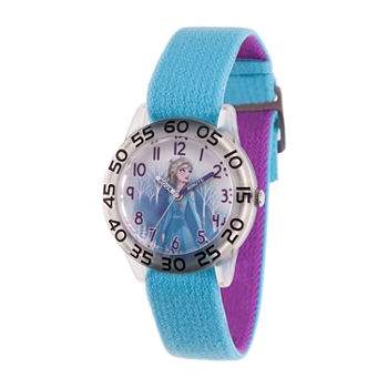 Disney Girls Blue Strap Watch-Wds000776