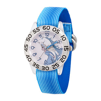 Disney Girls Blue Strap Watch-Wds000781