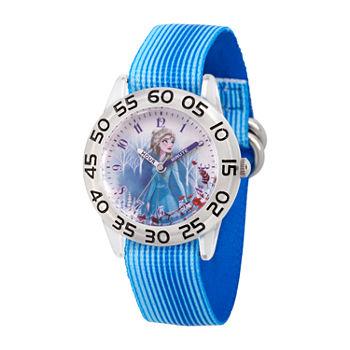 Disney Girls Blue Strap Watch-Wds000792