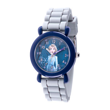 Disney Girls Gray Strap Watch-Wds000815